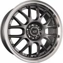 TEC Speedwheels GT dark grey polished lip